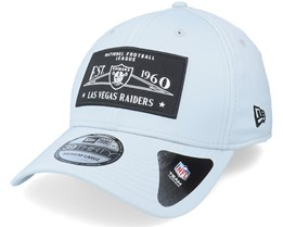 Las Vegas Raiders Team Patch 39Thirty Grey Flexfit - New Era