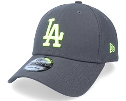 Los Angeles Dodgers Neon Pack 9FORTY Graphite/Neon Green Adjustable - New Era