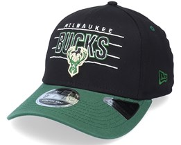 Milwaukee Bucks NBA Team 9Fifty Black/Green Adjustable - New Era