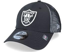 Las Vegas Raiders Mesh Underlay 9FORTY Black/White Adjustable - New Era