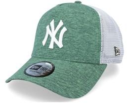 New York Yankees Jersey Heather Green/White Trucker - New Era