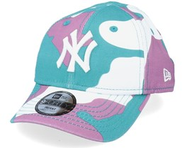 Kids New York Yankees Infant Camo Pack 9FORTY Teal Camo Adjustable - New Era