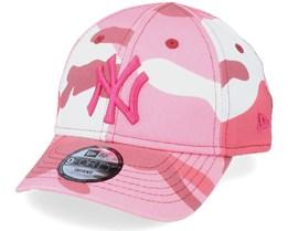 Kids New York Yankees Infant Camo Pack 9FORTY Maroon Camo Adjustable - New Era