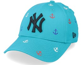 New York Yankees Chyt All Over Graphic 9FORTY Teal/Black Adjustable - New Era