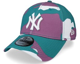 New York Yankees Camo Pack 9Forty Teal Camo Adjustable - New Era