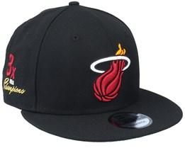 Miami Heat 9Fifty NBA Paisley Undervisor Black Snapback - New Era