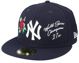 New York Yankees MLB Icon 59FIFTY Navy Fitted - New Era