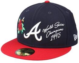 Atlanta Braves MLB Icon 59FIFTY Navy/Red Fitted - New Era