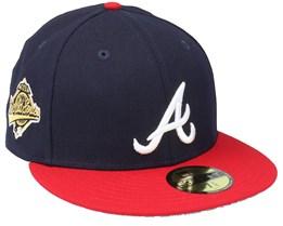 Atlanta Braves 59FIFTY MLB Paisley Undervisor Navy/Red Fitted - New Era
