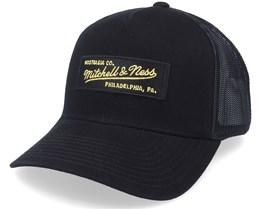 Own Brand Box Logo Black/Gold Trucker - Mitchell & Ness
