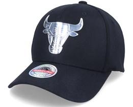Chicago Bulls Cyber Metal Black 110 Adjustable - Mitchell & Ness