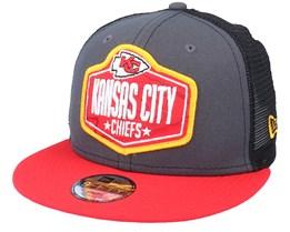Kids Kansas City Chiefs 9Fifty NFL21 Dark Grey/Red Trucker - New Era