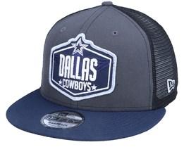 Dallas Cowboys 9Fifty NFL21 Draft Dark Grey/Navy Trucker - New Era