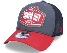 Tampa Bay Buccaneers 39Thirty NFL21 Draft Dark Grey/Red Flexfit - New Era
