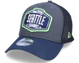 Seattle Seahawks 39Thirty NFL21 Draft Dark Grey/Navy Flexfit - New Era