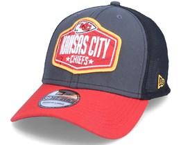 Kansas City Chiefs 39Thirty NFL21 Draft Dark Grey/Red Flexfit - New Era