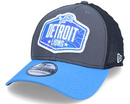 Detroit Lions 39Thirty NFL21 Draft Dark Grey/Blue Flexfit - New Era