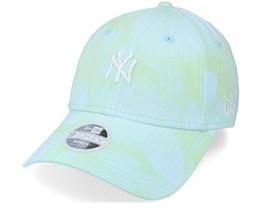 New York Yankees Womens Tie Dye 9FORTY Green/Blue Adjustable - New Era