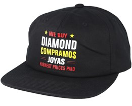 Jewelers Row Black Snapback - Diamond