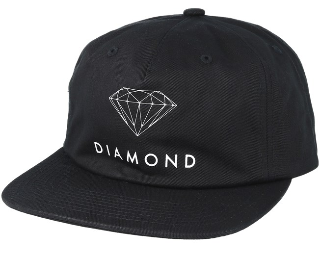 1f5720c2de5ef3 Futura Sign Unconstructed 5-Panel Black Snapback - Diamond caps -  Hatstoreworld.com