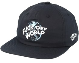 Get Me Out Of Here Unstructured Black Strapback - Diamond