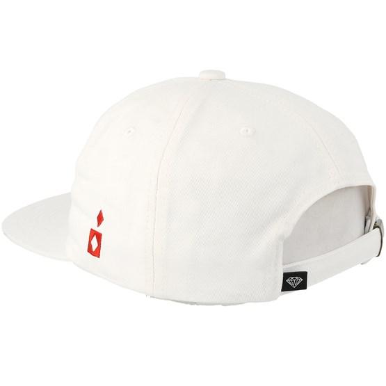 Straight Flush Unconstructed White Strapback - Diamond caps ... 49a21616b5b