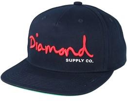 Script Navy Snapback - Diamond