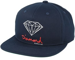 Sign Navy Snapback - Diamond
