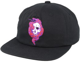 Venom Unconstructured Black Strapback - Diamond