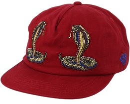 Cobra Unconstructured Red Strapback - Diamond