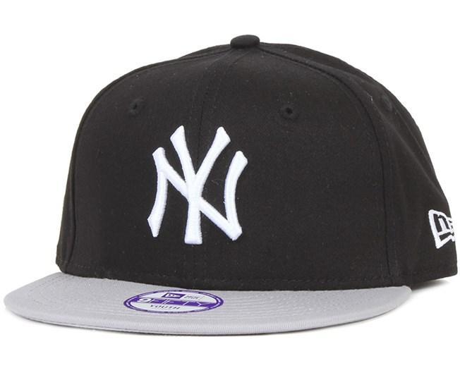 Kids NY Yankees MLB Cotton Black Gray 9Fifty - New Era - Start Boné ... 7f95ce89227