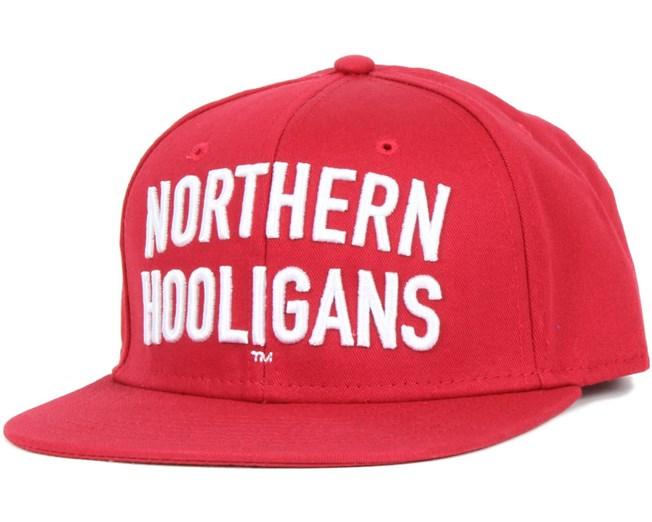 Hooligans Red Snapback - Northern Hooligans caps | Hatstore co uk