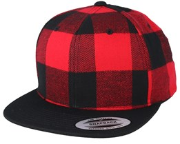 Check Red Snapback - Yupoong