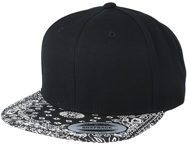 d2eee4b0b Paisley Black Snapback - Yupoong caps   Hatstore.co.uk