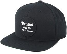 Wheeler Black Snapback - Brixton