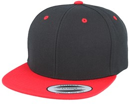 Kids Black/Red Snapback - Yupoong