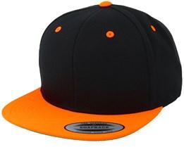 Black/Neon Orange Snapback - Yupoong