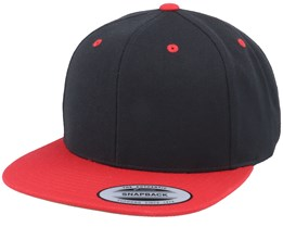 Black/Red Snapback - Yupoong
