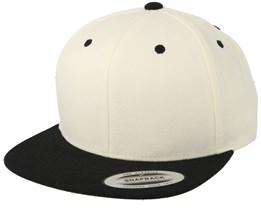 Natural/Black Snapback - Yupoong