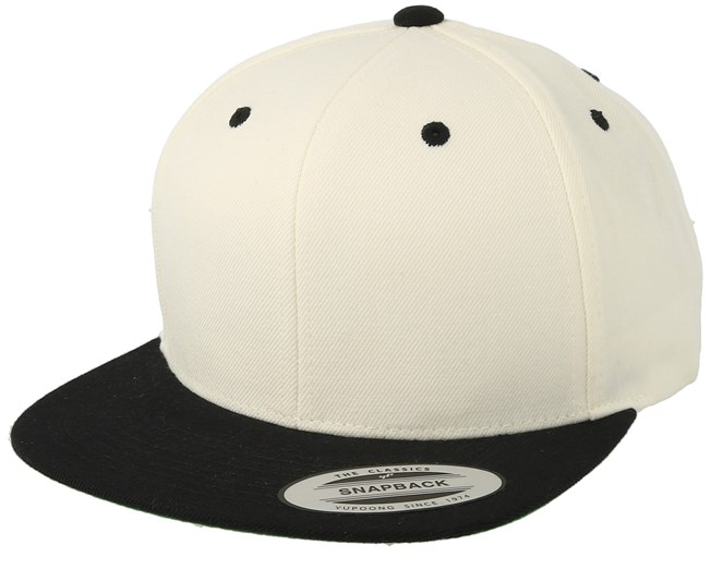 093942847 Natural/Black Snapback - Yupoong caps - Hatstoreworld.com
