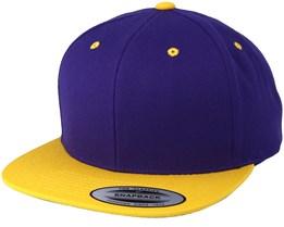 Purple/Gold Snapback - Yupoong