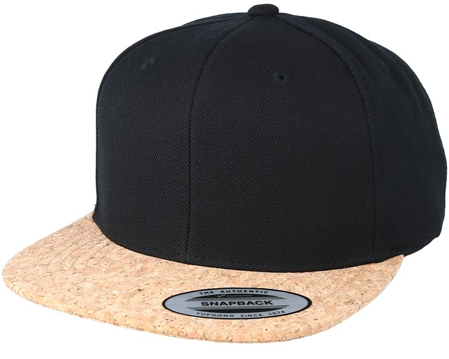547eedb55 Black/Cork Snapback - Yupoong caps - Hatstorecanada.com