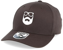 Logo Brown/White Flexfit - Bearded Man