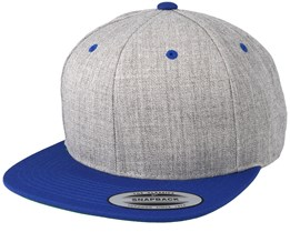 Heather Grey/Royal Snapback - Yupoong