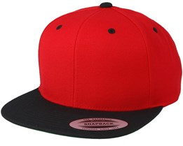 Red/Black Snapback - Yupoong