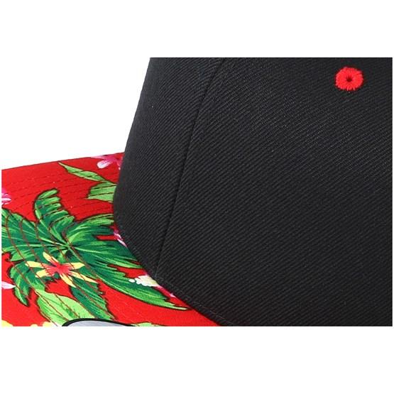 35d10e2cf7557 Hawaiian Black Red Snapback - Yupoong caps