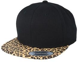 Animal Black Leopard Snapback - Yupoong