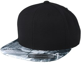 Oil Paint Visor Black/Grey Snapback - Yupoong