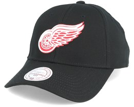 Detroit Red Wings Low Pro Black Adjustable - Mitchell & Ness