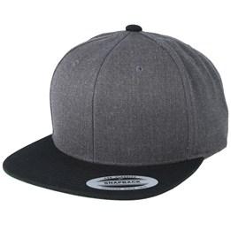 7b14f142c509c Yupoong Charcoal Black Snapback - Yupoong £17.99